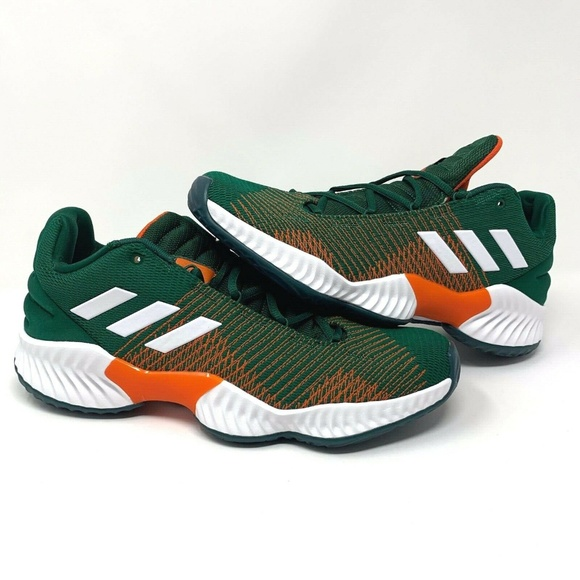 outlet store 1a2a0 71ac7 Adidas Pro Bounce 2018 Miami Hurricanes Shoes - 11